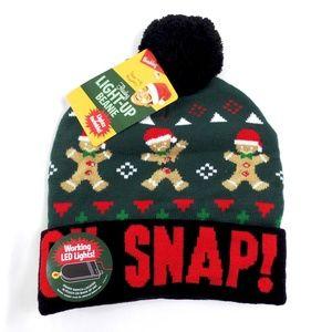 light up led gingerbread man hat - Ugly Christmas Hats